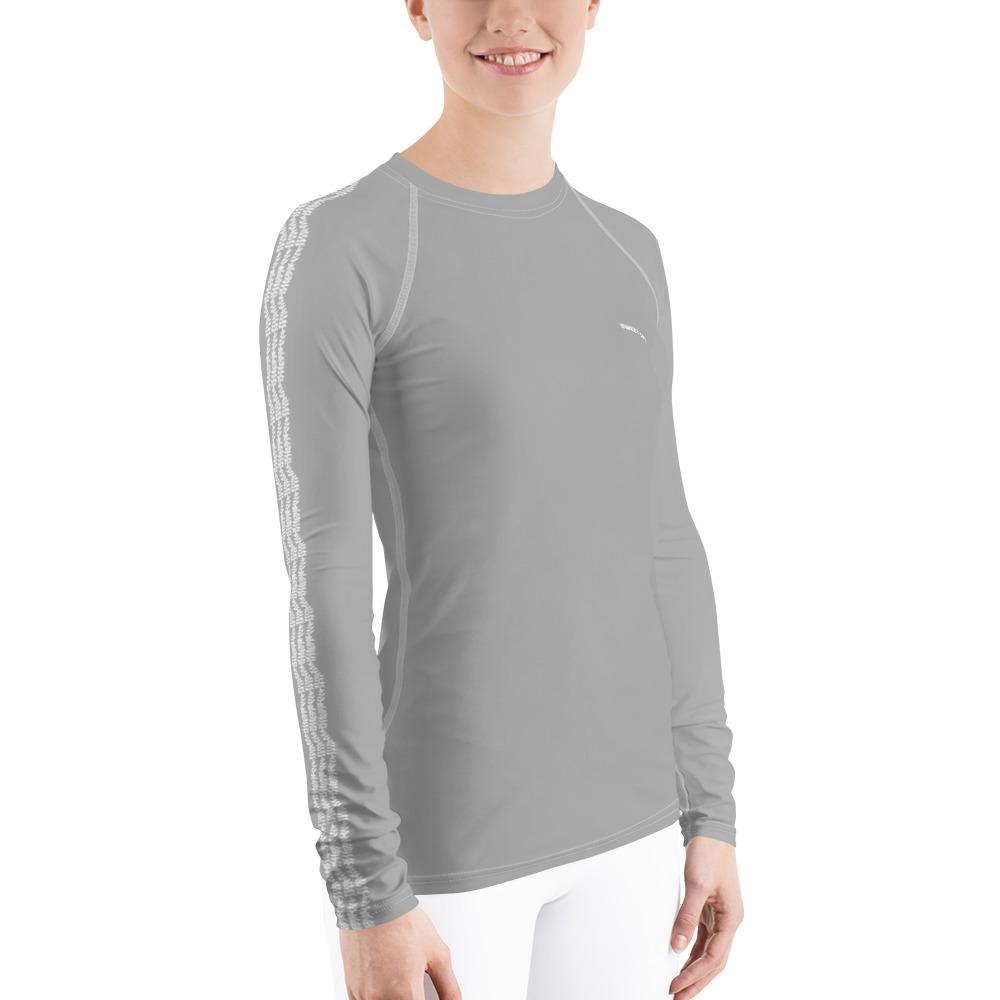 Light Gray Women's Rash Guard t-Shirts (Solid Color) - thiennas-sweet-life
