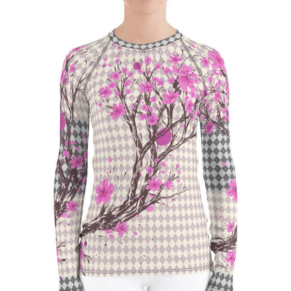 Classic Design Cherry Blossom Women's Rash Guard T-Shirt - Thienna's Sweet Life