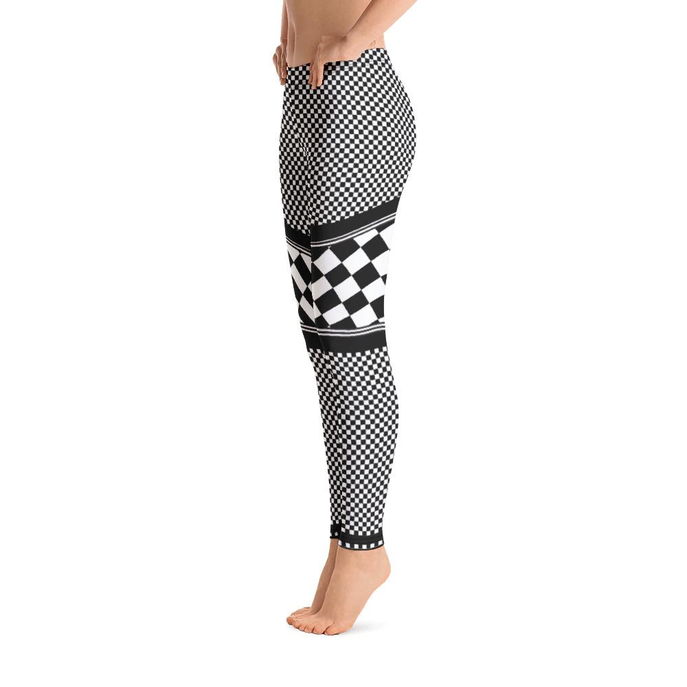 Sporty Checkered Leggings - Thienna's Sweet Life