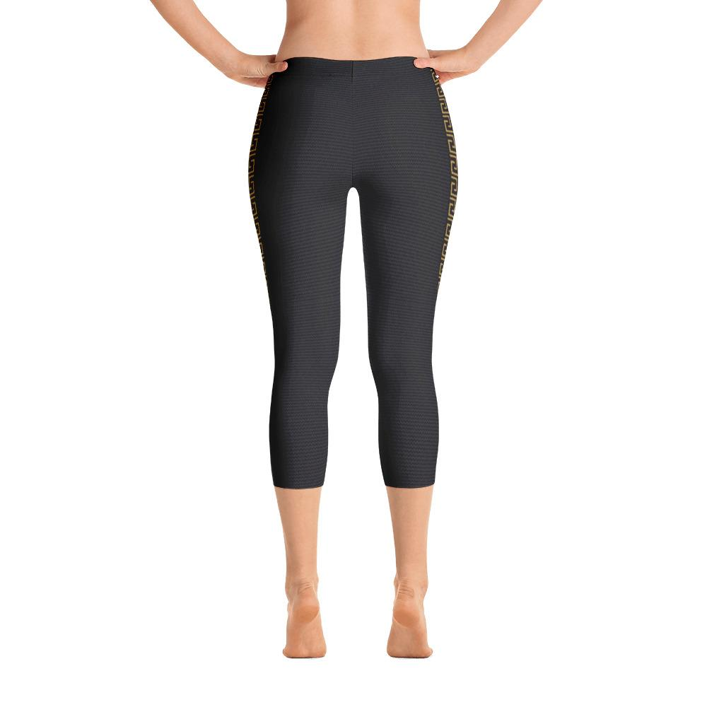 Black Yellow Capri Leggings - Thienna's Sweet Life