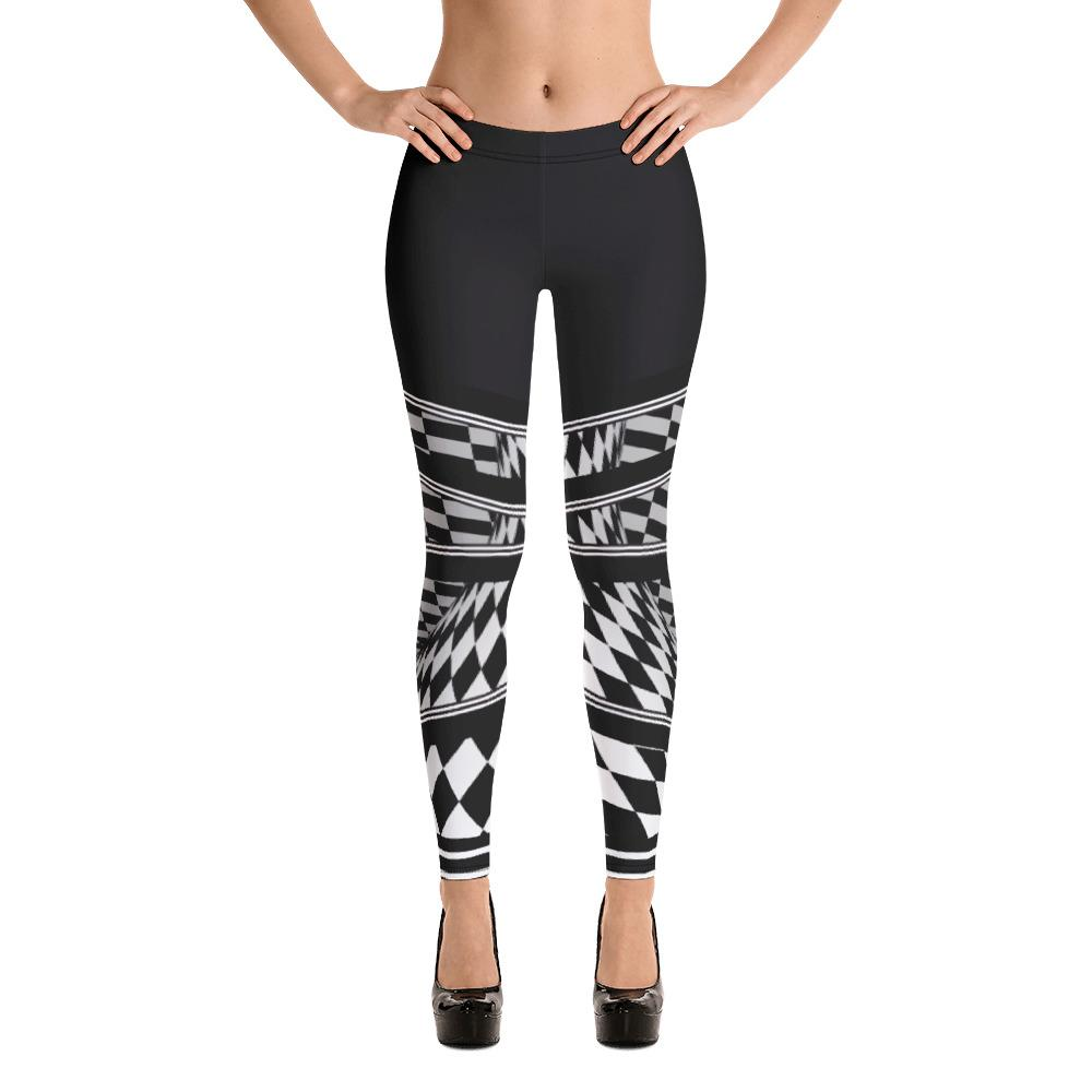 Abstract Checkered Leggings - thiennas-sweet-life