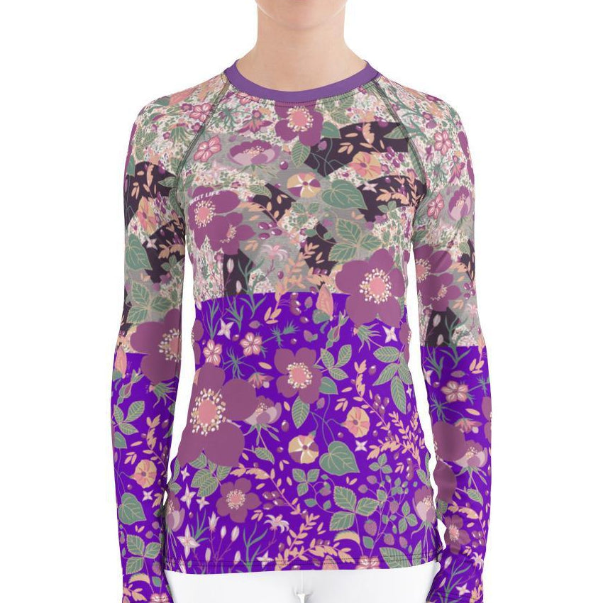 Gorgeous Vintage Floral Women's Rash Guard T-Shirts - thiennas-sweet-life