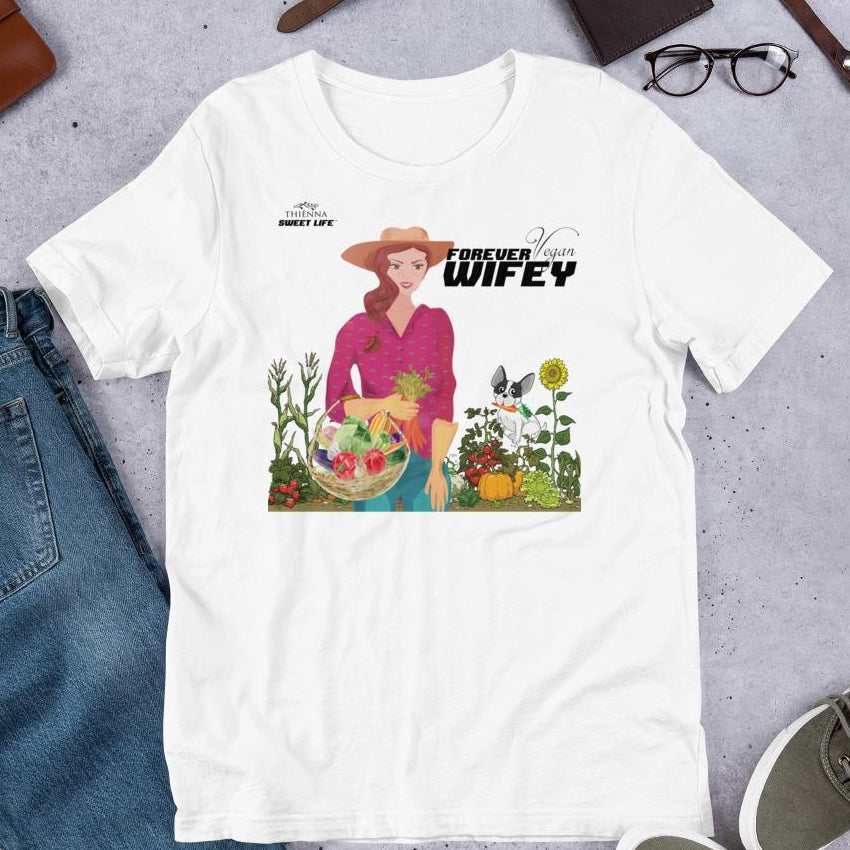 Forever Vegan Wifey Short-Sleeve Unisex T-Shirt - Thienna's Sweet Life