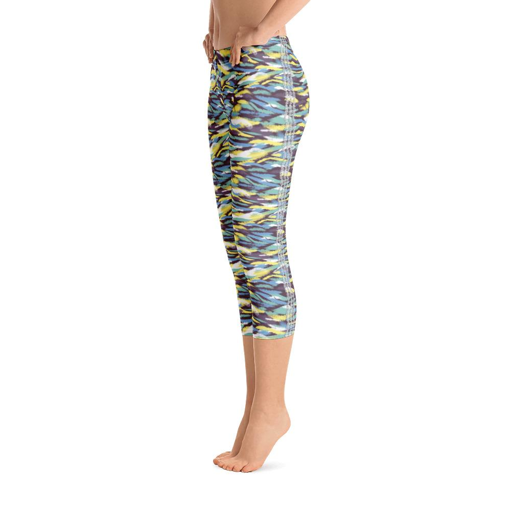 Wild Waves Capri Leggings (Abstract Pattern) - thiennas-sweet-life