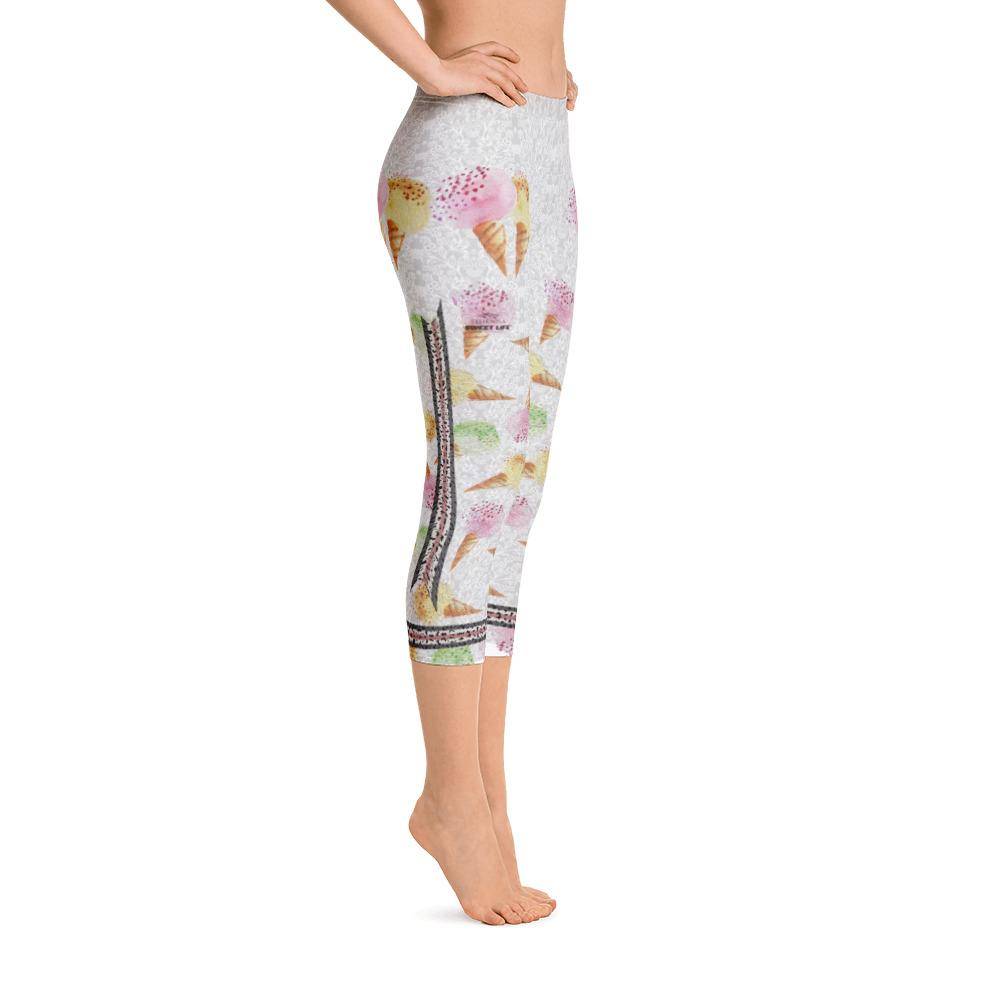 Ice Cream Addict Capri Leggings - Thienna's Sweet Life