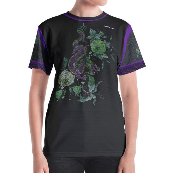 Purple Dragon Women's Crew Neck T-Shirt - thiennas-sweet-life