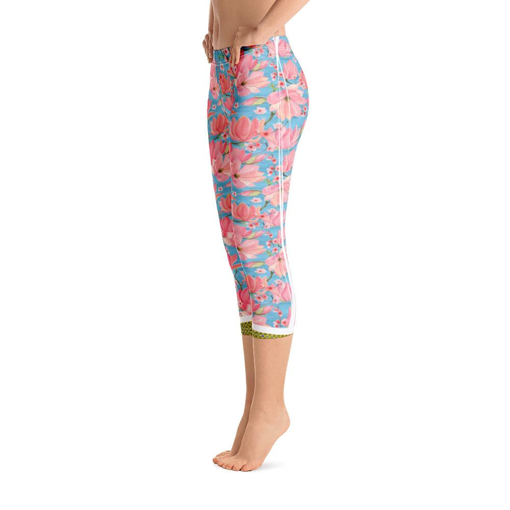 Ocean Side Hanging Magnolia Capri Leggings - Thienna's Sweet Life
