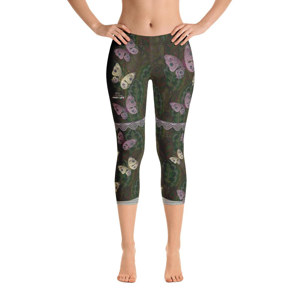 Beautiful Butterfly Capri Leggings - Thienna's Sweet Life