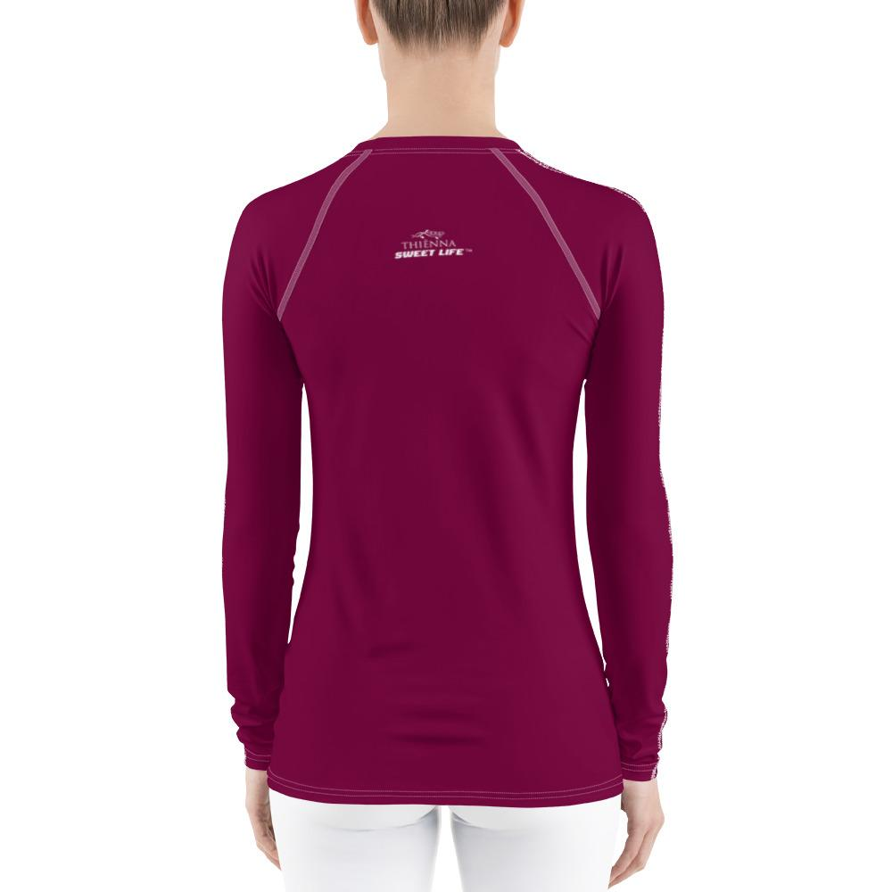 Beet Women's Rash Guard T-Shirts (Solid Colors) - thiennas-sweet-life