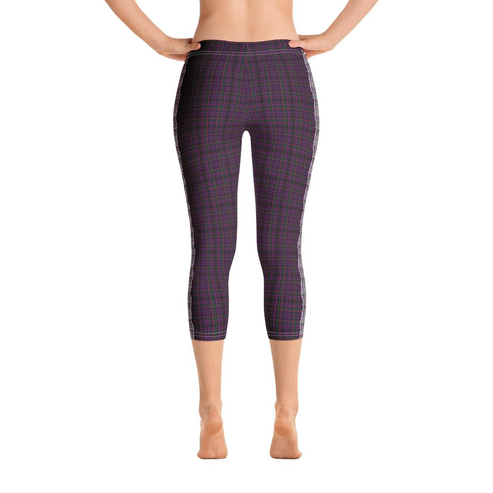 Dark Pink Capri Leggings (Plaided) - thiennas-sweet-life