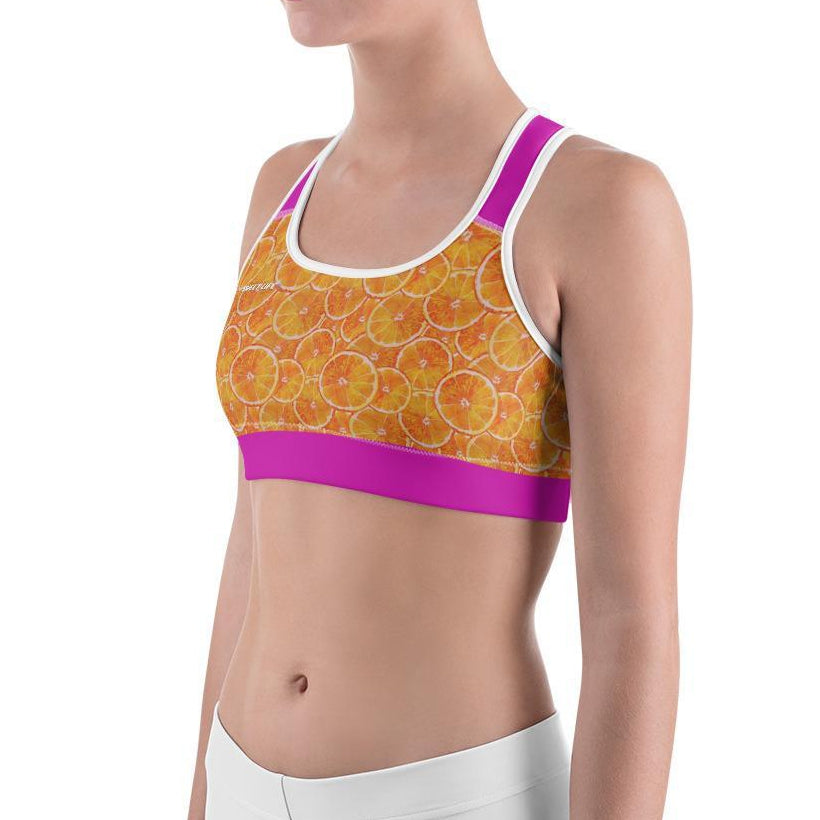 Orange Splash Sports Bras - Thienna's Sweet Life