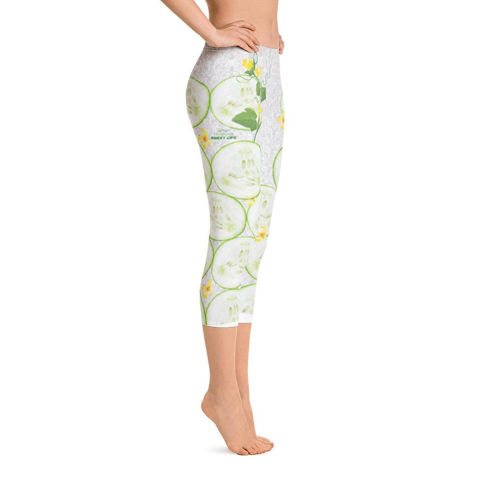 Cool As A Cucumber Capri Leggings - thiennas-sweet-life