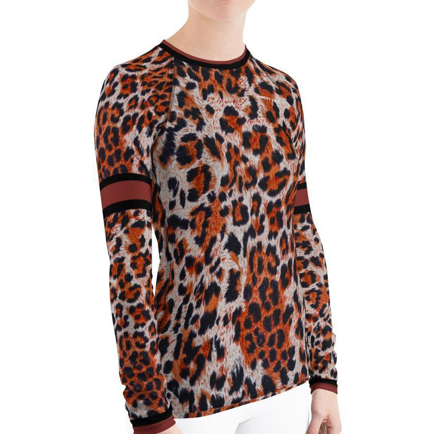 Sunset Leopard Women's Rash Guard T-Shirts - Thienna's Sweet Life