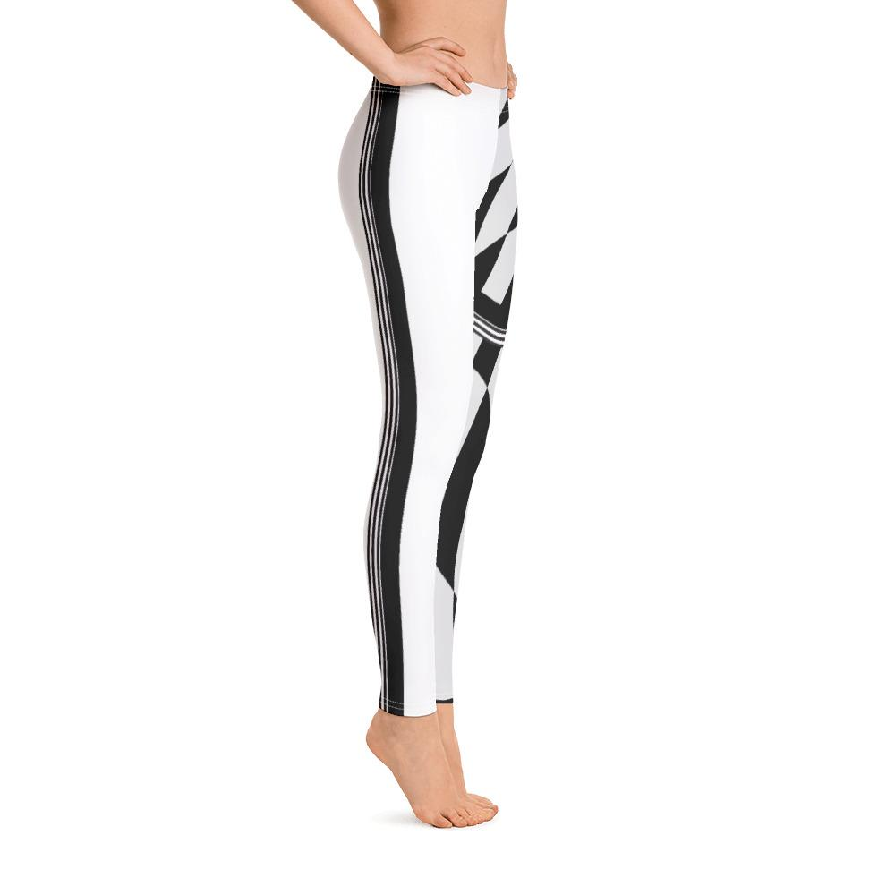 Half Tone Black White Checkered Leggings - thiennas-sweet-life