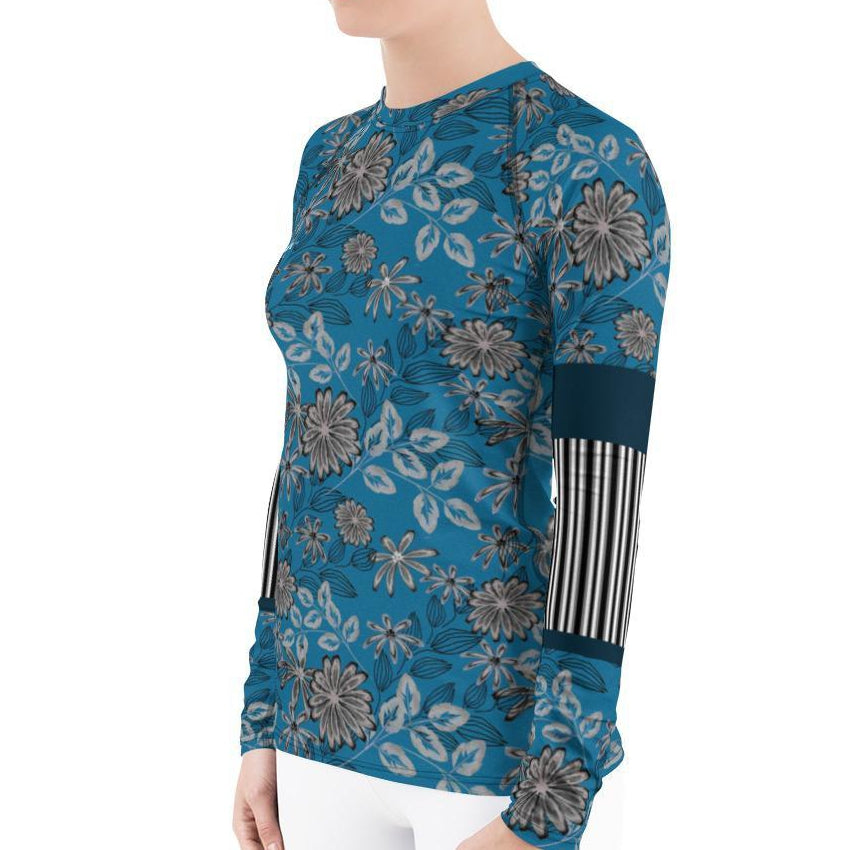 Gorgeous Floral Women's Rash Guard T-Shirts - thiennas-sweet-life