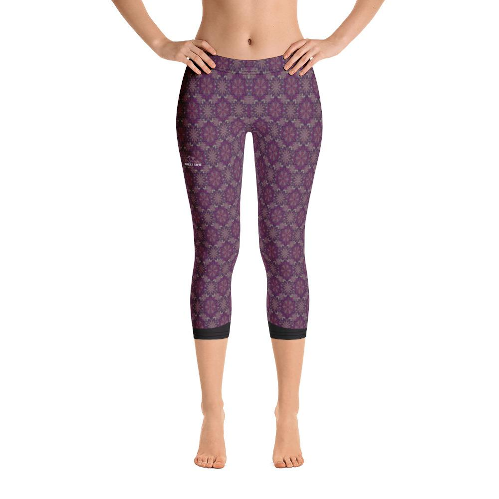 Lavender Abstract Capri Leggings - Thienna's Sweet Life