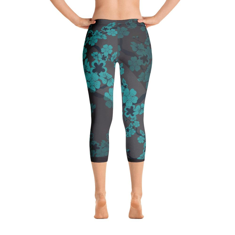 Peach Blossoms Capri Leggings - thiennas-sweet-life