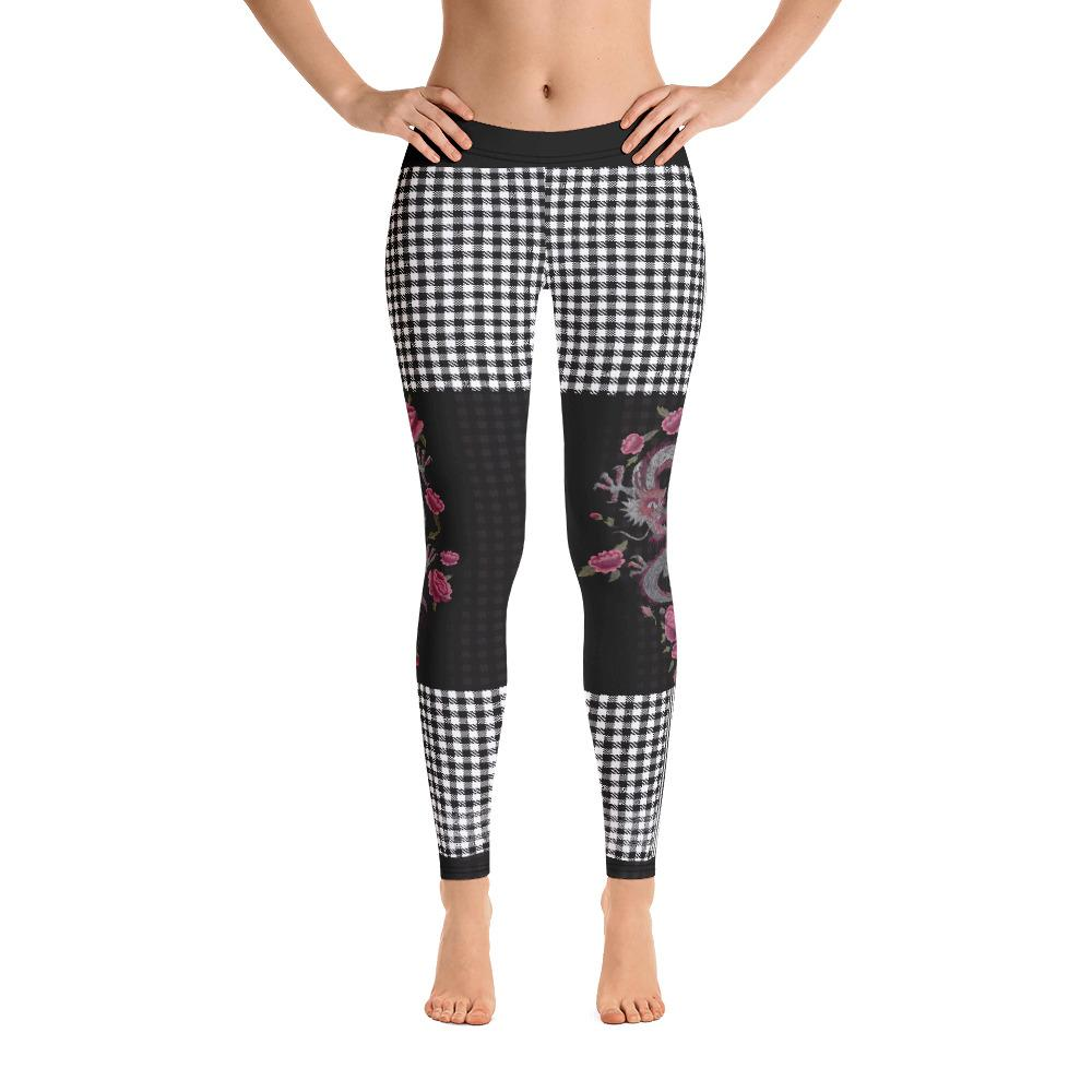 Checkered Dragon Leggings - Thienna's Sweet Life
