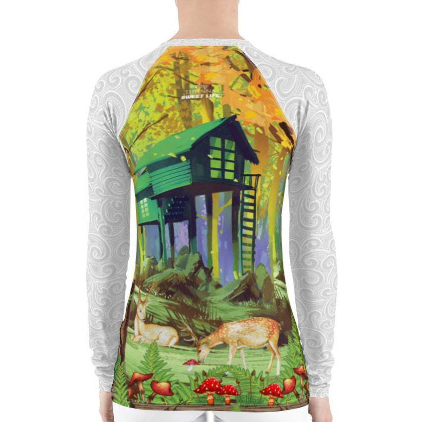 My Forest Cottage Women's Rash Guard T-Shirts - thiennas-sweet-life
