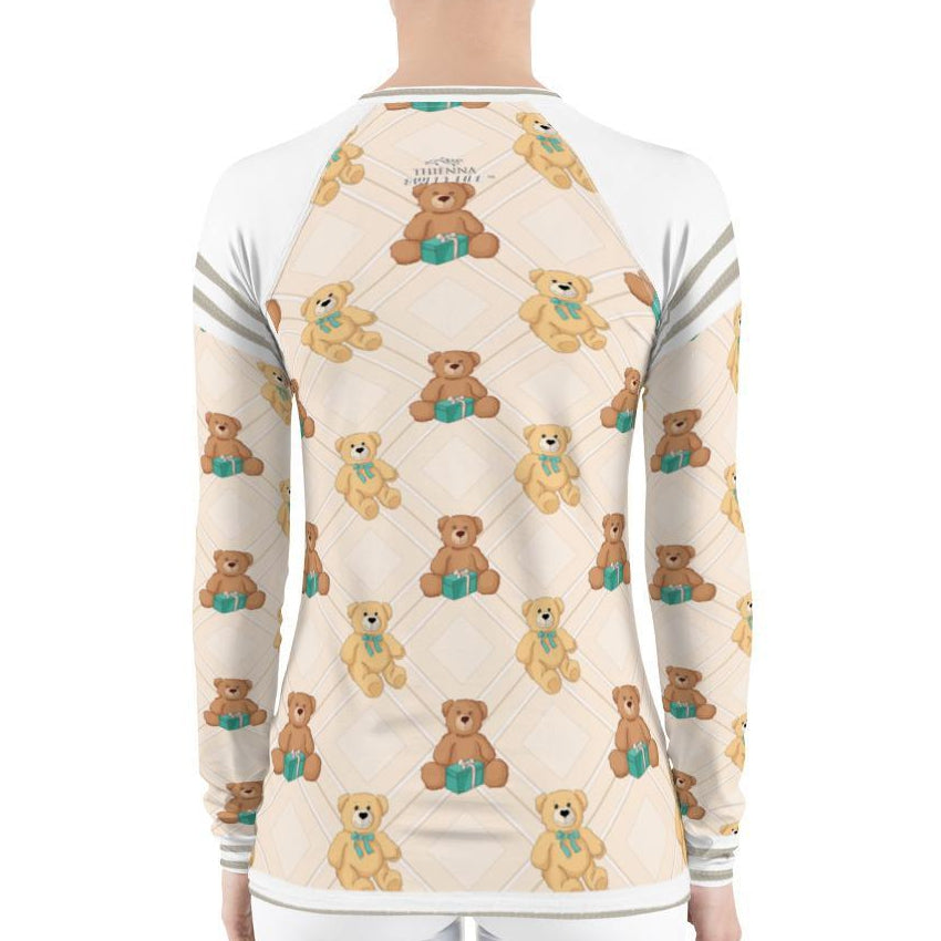 Cute Teddy Bear Women's Rash Guard T-Shirts - thiennas-sweet-life