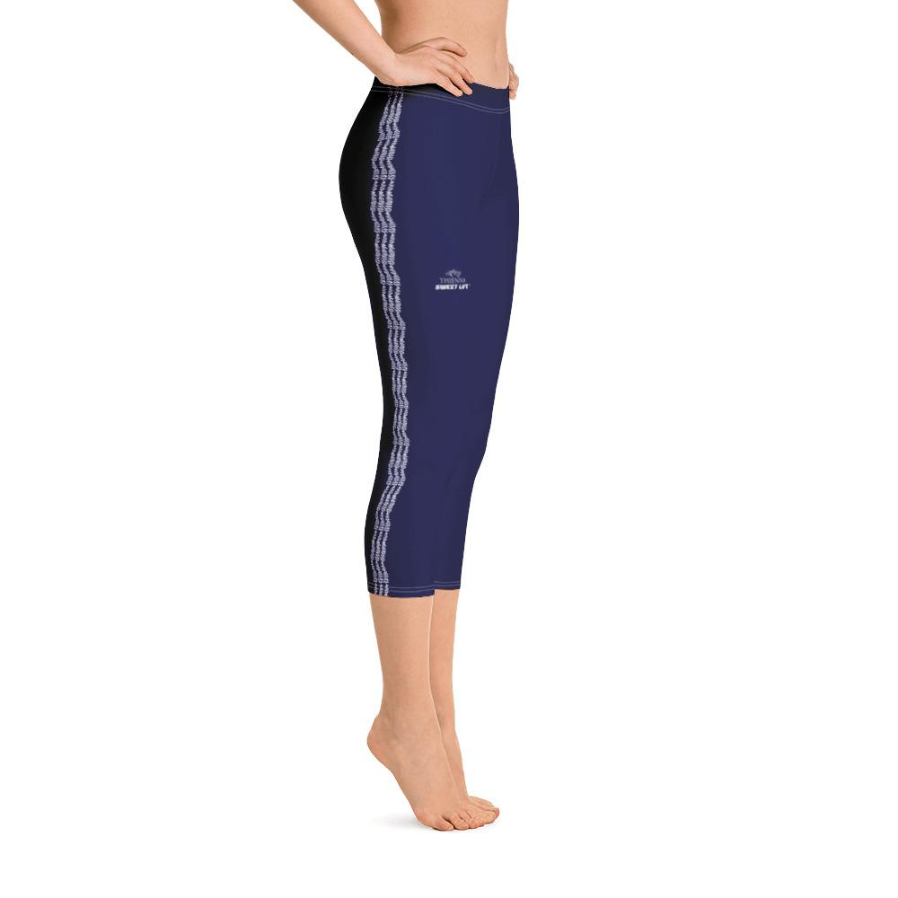 Navy Blue Capri Leggings (Solid Colors) - thiennas-sweet-life