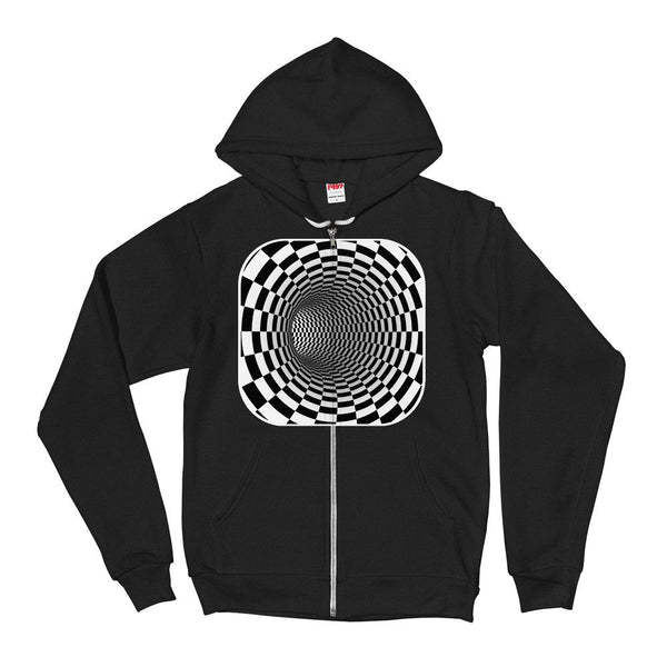 Checkered Tunnel Hoodie Sweater - thiennas-sweet-life