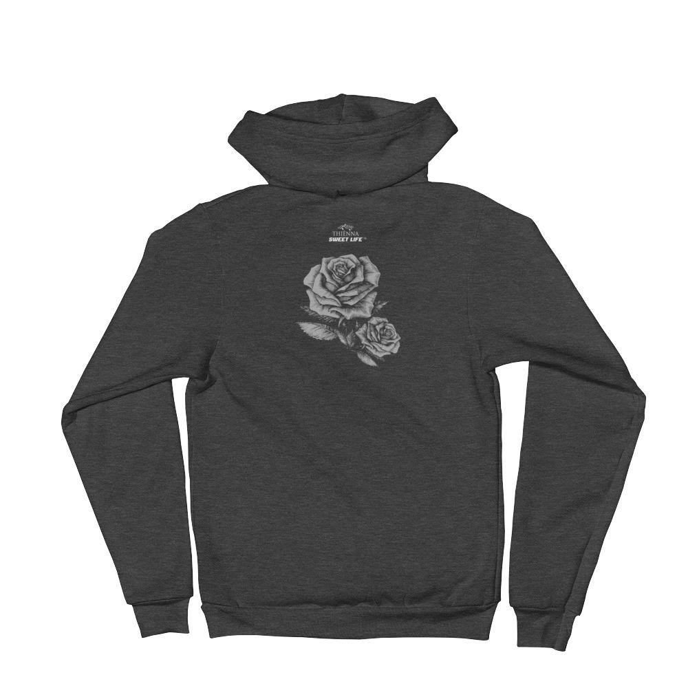 Black Lips and Roses Hoodie Sweater - thiennas-sweet-life