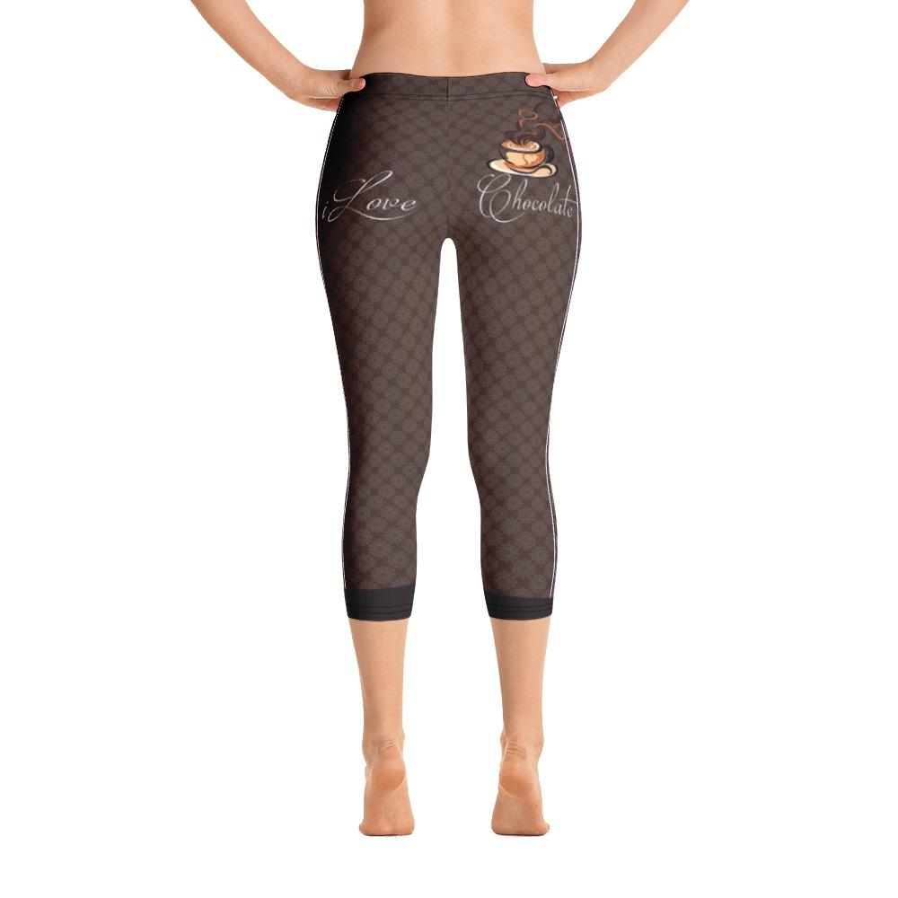 I Love Chocolate Capri Leggings - Thienna's Sweet Life
