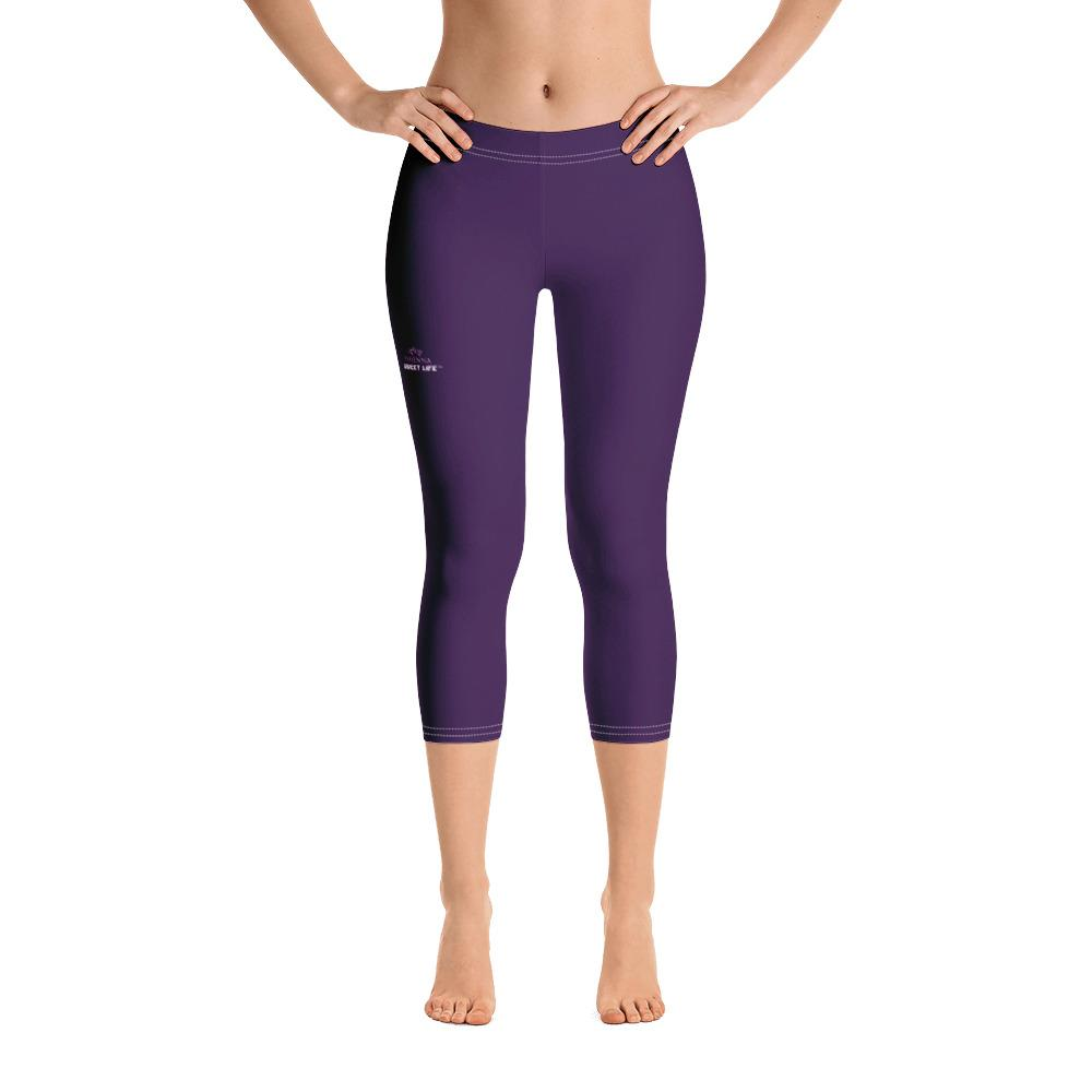 Eggplant Capri Leggings (Solid Colors) - thiennas-sweet-life