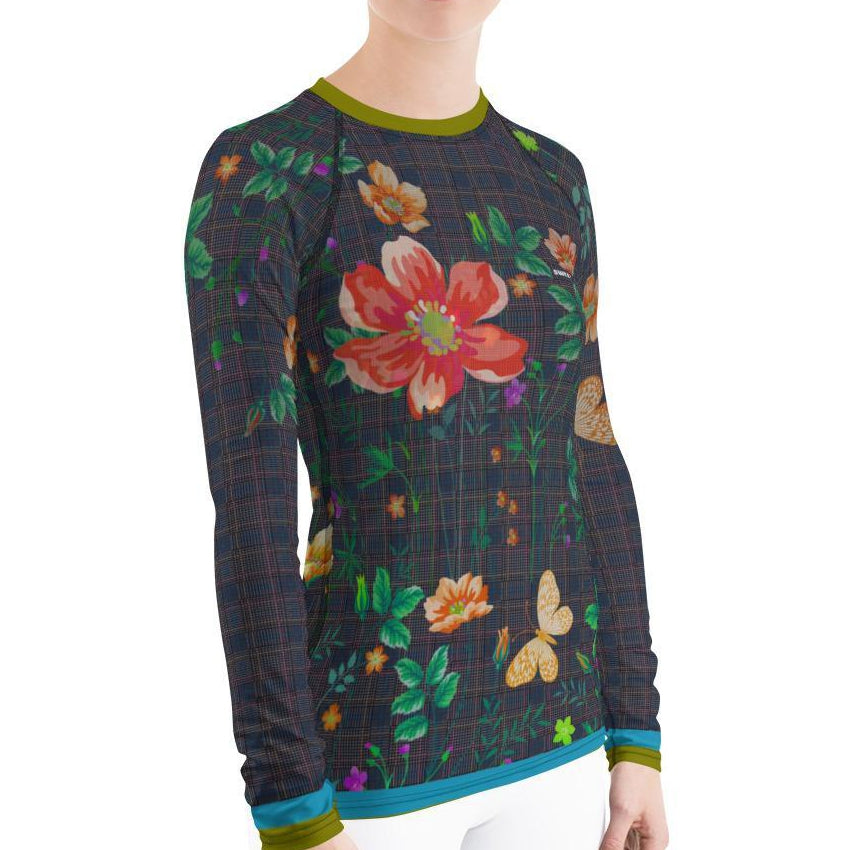 Classic Floral Women's Rash Guard T-Shirts - Thienna's Sweet Life