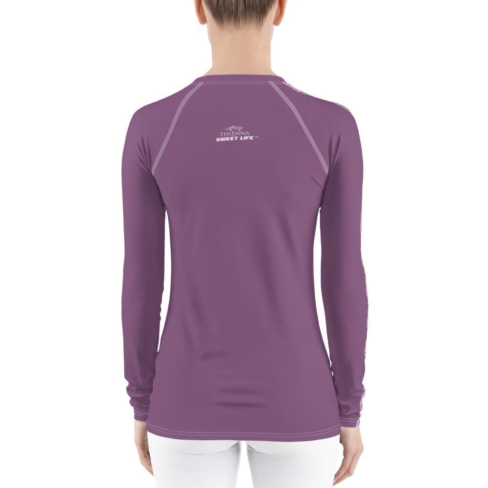 Pastel Purple Women's Rash Guard T-Shirts (Solid Color) - thiennas-sweet-life