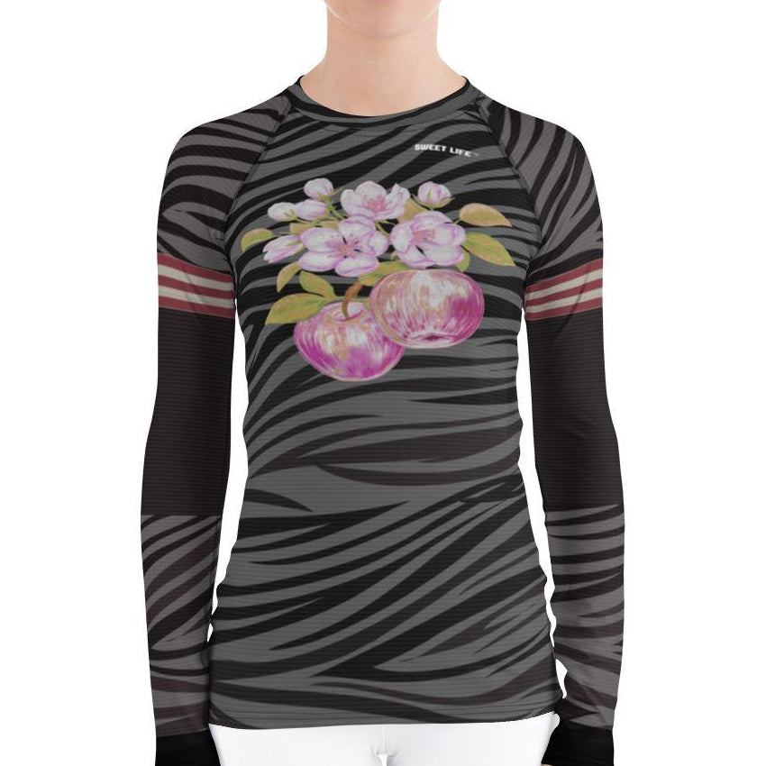 Cute Apple Blossoms Women's Rash Guard T-Shirts - Thienna's Sweet Life