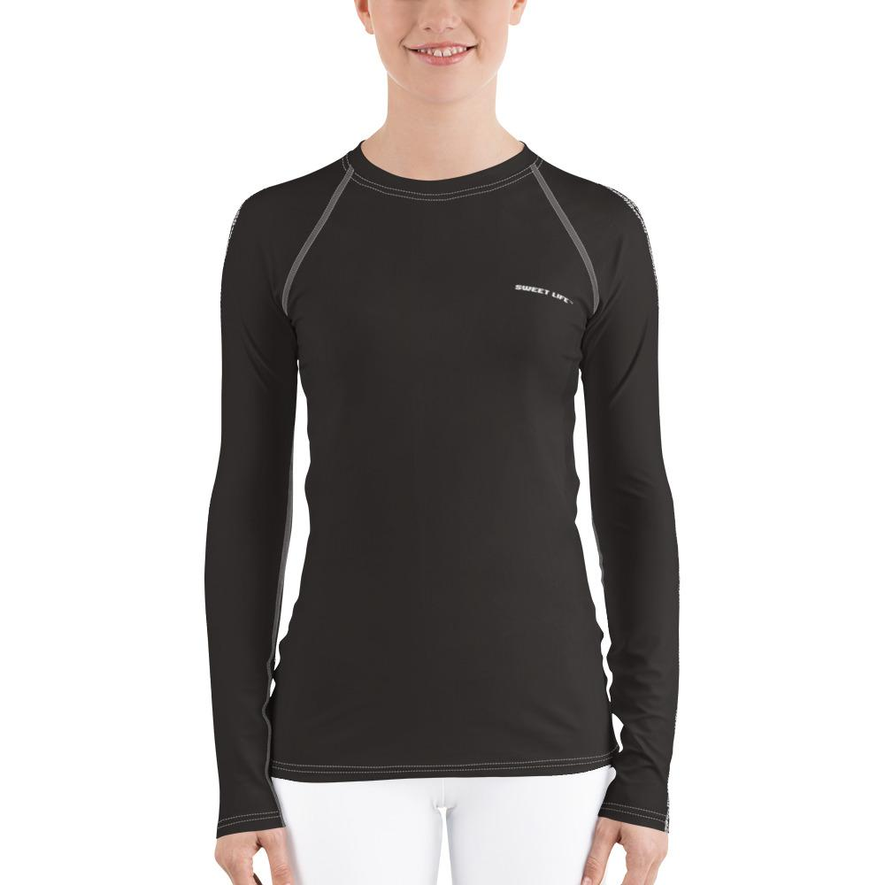 Dark Chocolate Women's Rash Guard T-Shirts (Solid Color) - thiennas-sweet-life