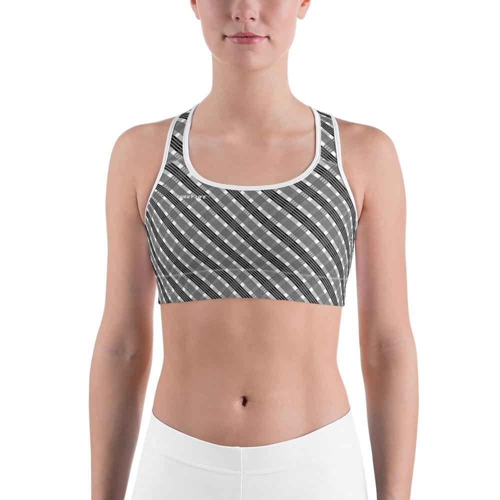 Black and Gray Sports Bras (Plaided) - thiennas-sweet-life
