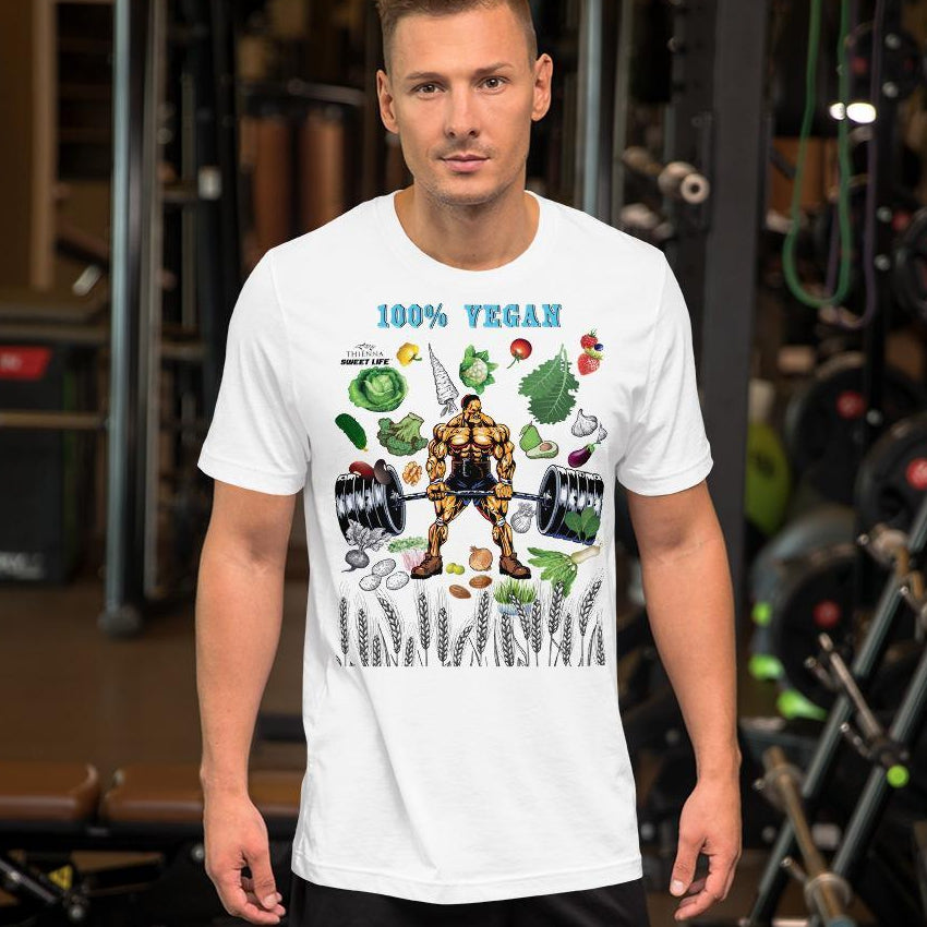 Sexy Hubby Deadlifting 100% Vegan Short-Sleeve Unisex T-Shirt - Thienna's Sweet Life