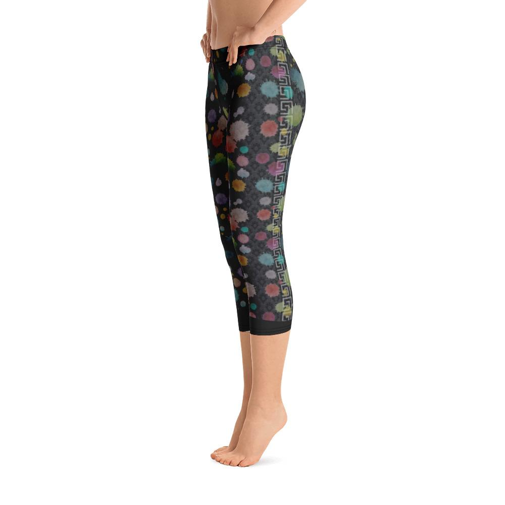 Colorful Paint Splatter Capri Leggings - Thienna's Sweet Life