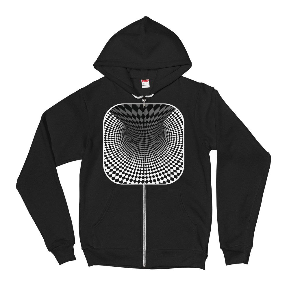Twisted Checkered Hoodie Sweater - thiennas-sweet-life
