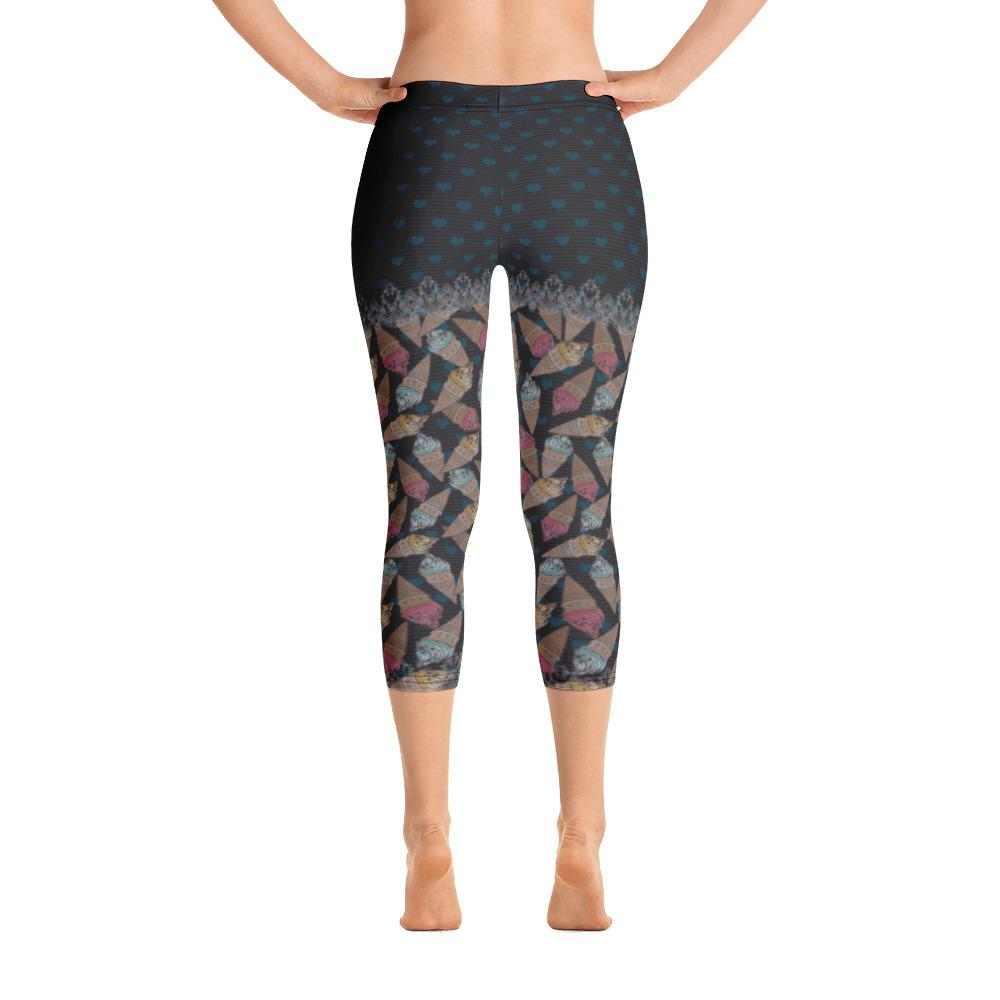 Ice Cream Cones Capri Leggings - thiennas-sweet-life