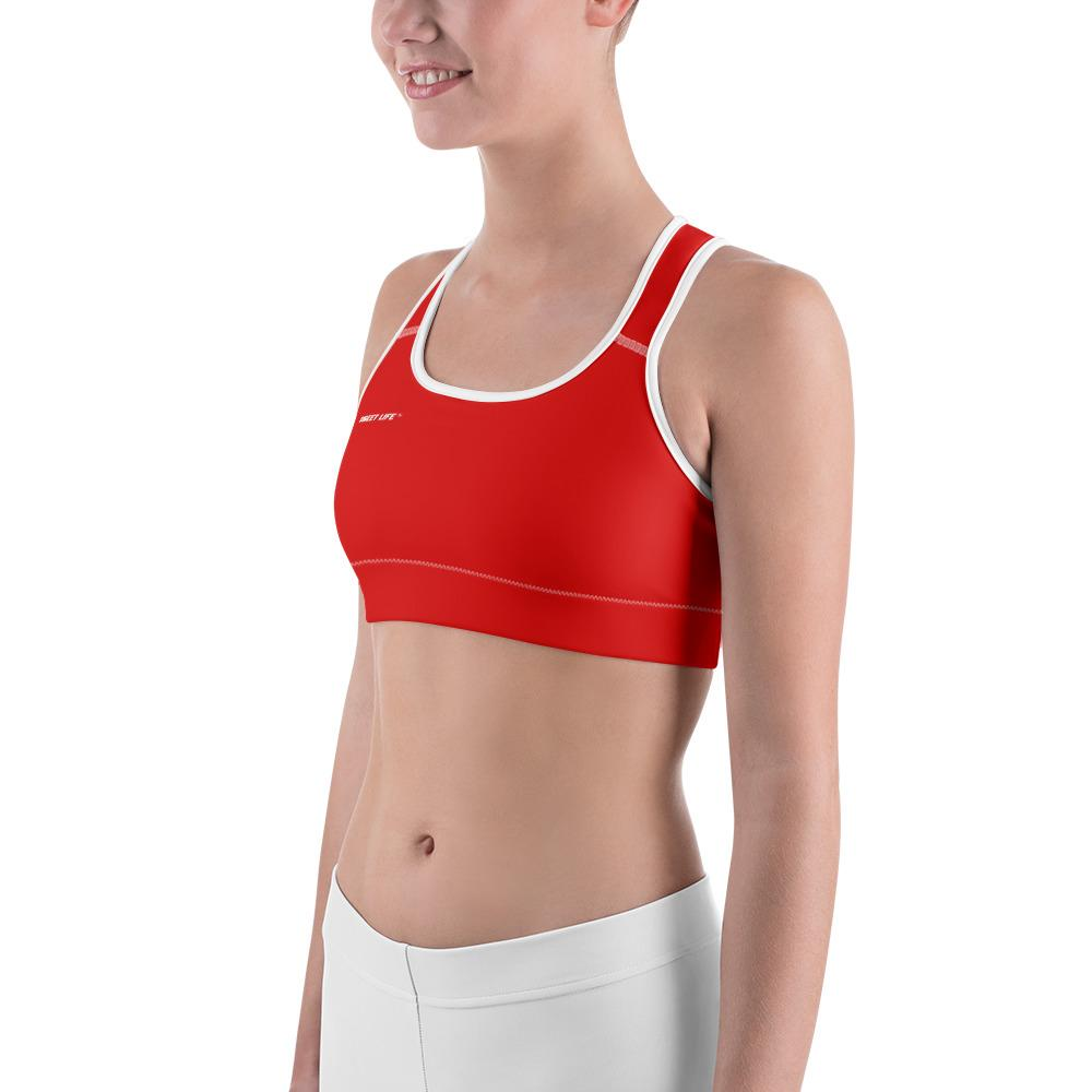 Strawberry Red Sports Bras (Solid Color) - thiennas-sweet-life