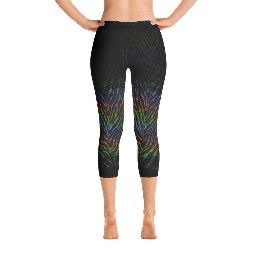 Wild Rainbow Animal Print Capri Leggings - thiennas-sweet-life