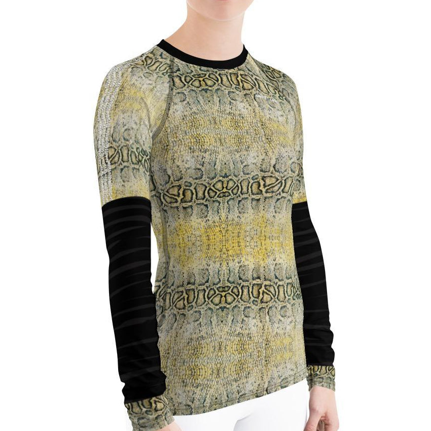 Snake Skin Women's Rash Guard - Thienna's Sweet Life