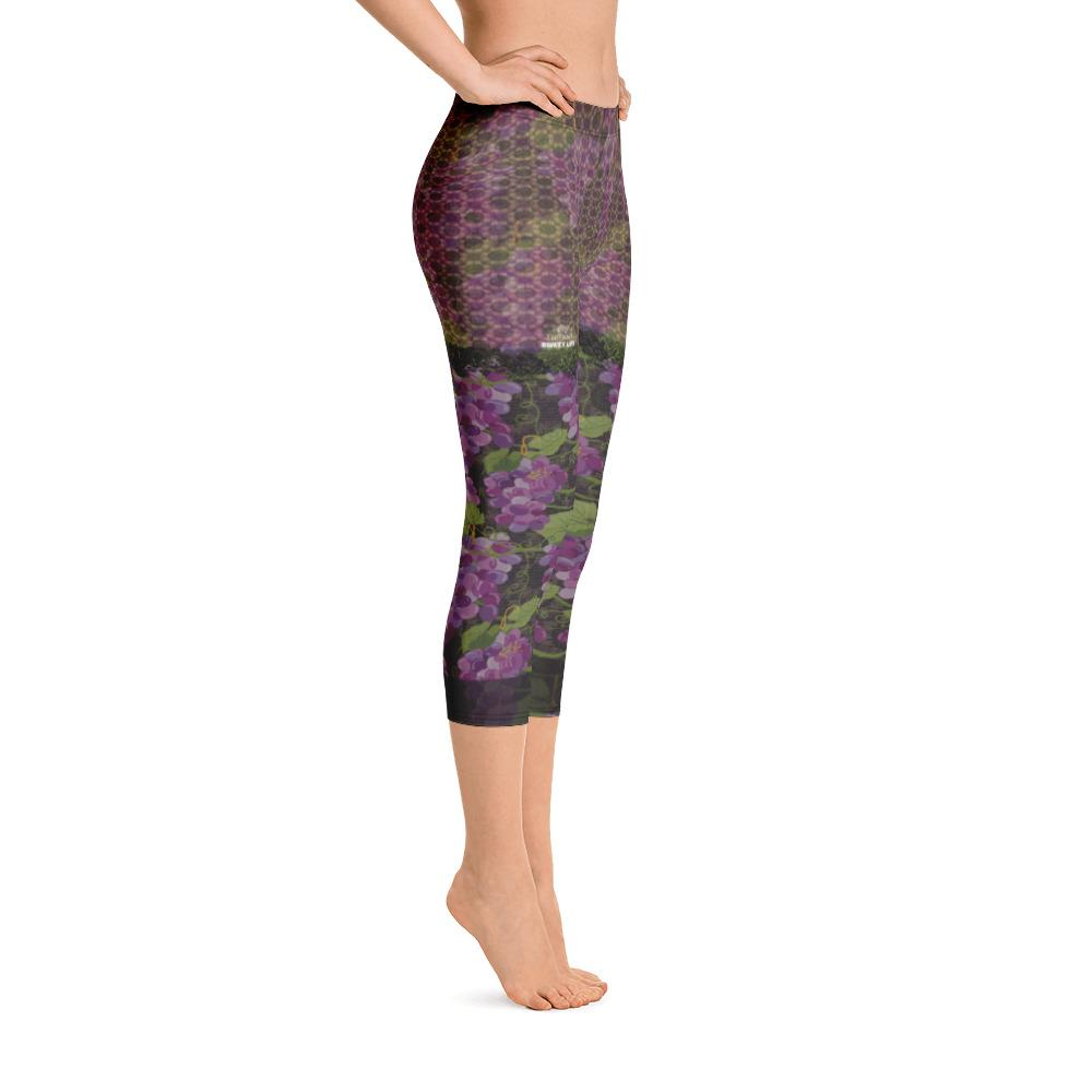 Juicy Grape Capri Leggings - Thienna's Sweet Life