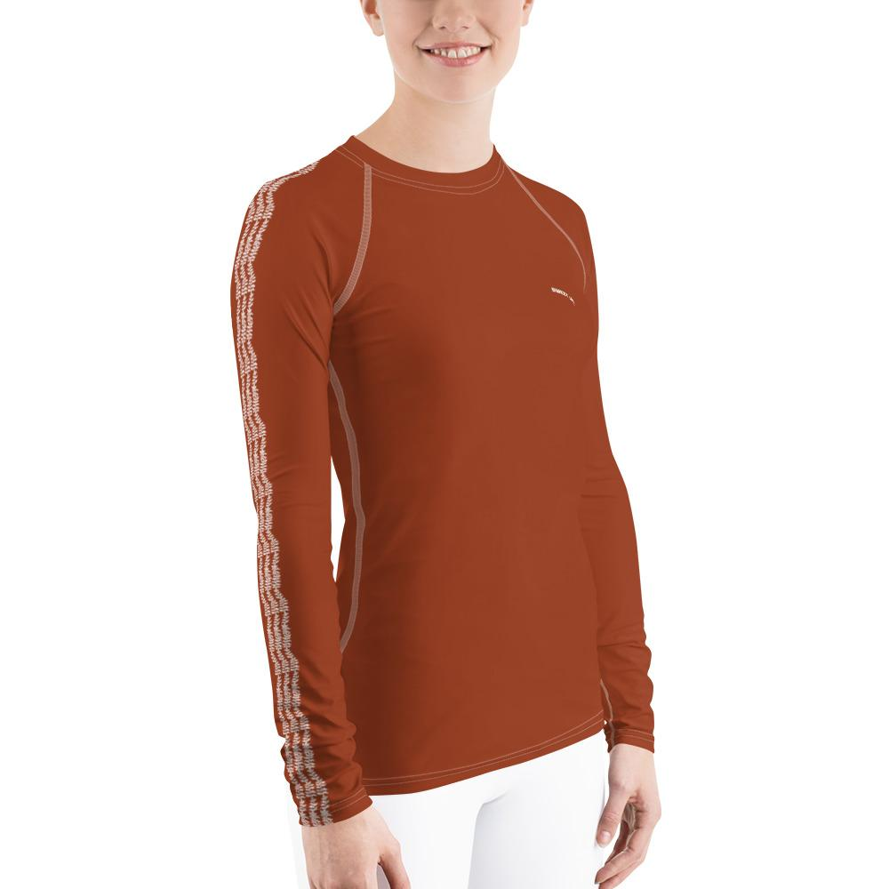 Cinnamon Women's Rash Guard T-Shirts (Solid Colors) - Thienna's Sweet Life