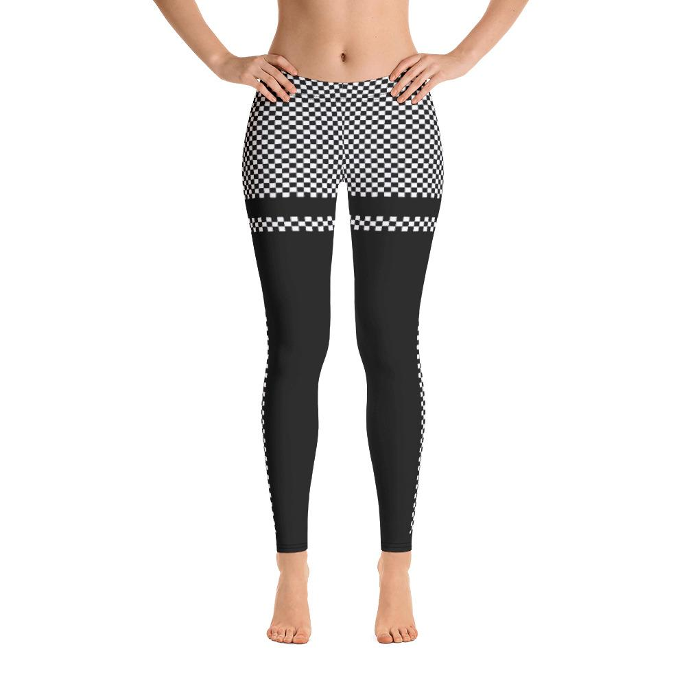 Black White Checkered Leggings - Thienna's Sweet Life