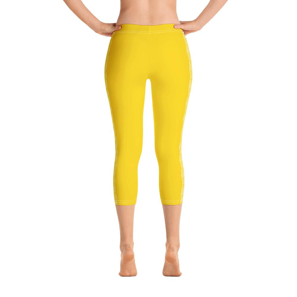 Yellow Capri Leggings (Solid Colors) - thiennas-sweet-life