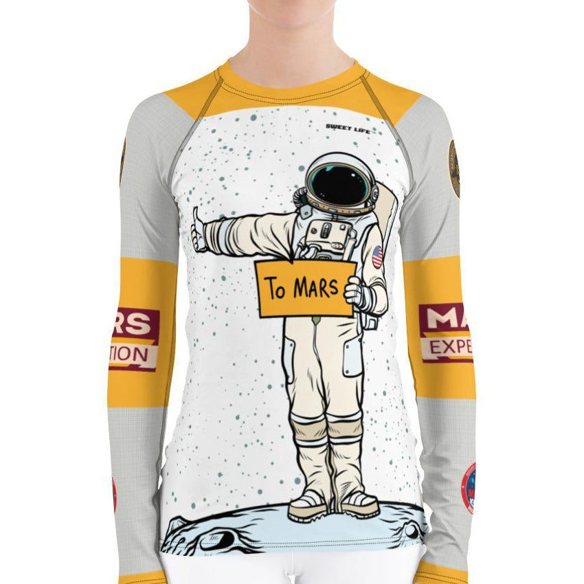 Mars Expedition Women's Rash Guard T-Shirts - thiennas-sweet-life