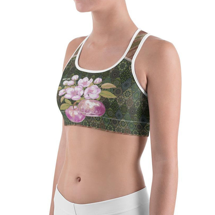 Apples on Branch Sports Bras - Thienna's Sweet Life