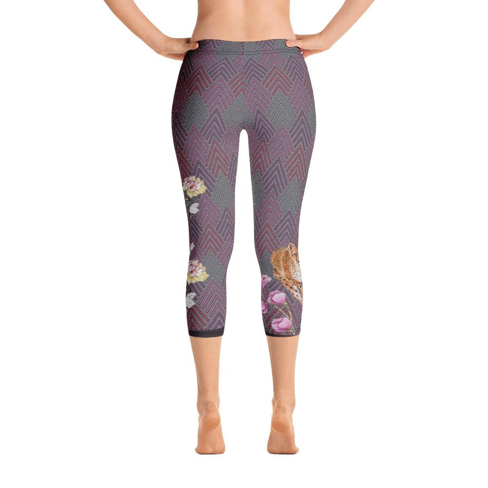 Happy Cheetah Capri Leggings - Thienna's Sweet Life