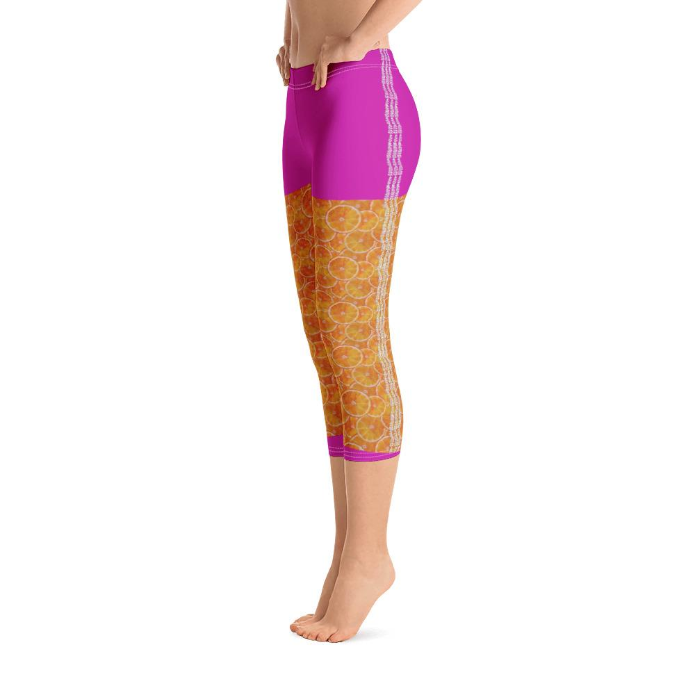 Orange Splash Capri Leggings - Thienna's Sweet Life