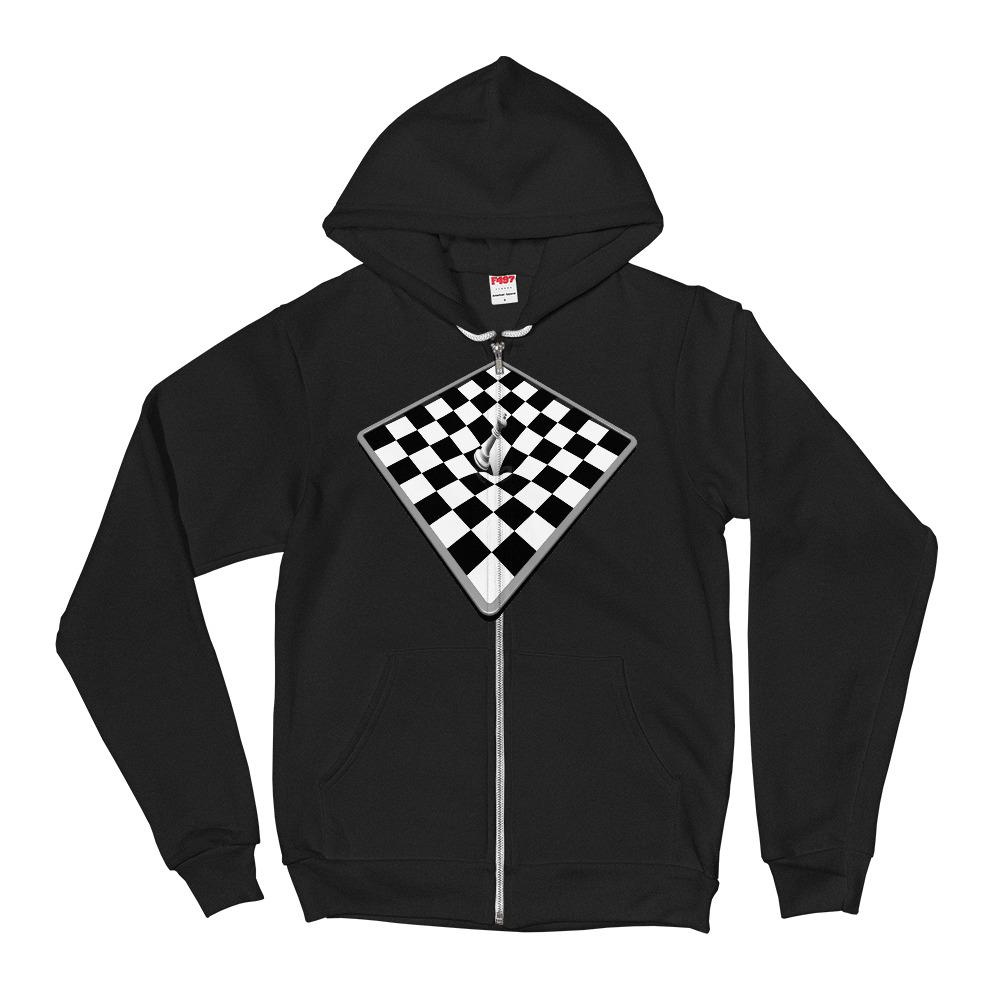 Chessboard Checkered Hoodie Sweater - thiennas-sweet-life